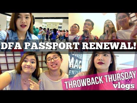 DFA PASSPORT RENEWAL! Throwback Thursday Vlog ♡ | makeupbykarlamisa