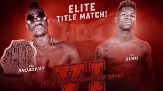 [FREE TITLE FIGHT] Lio Rush vs Ken Broadway - House of Glory Wrestling