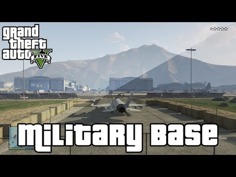 GTA 5 Tips & Tricks - Best Way to Break into the Military Base! - Fly Fighter Jets & Helicopters