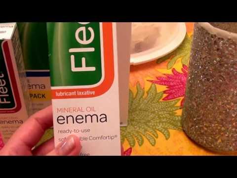 ENEMA TIME ! Fleet Mineral Oil Enema, Latex Free constipation relief