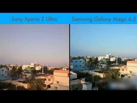 Sony Xperia Z Ultra vs Samsung Galaxy Mega 6 3 Camera Quality