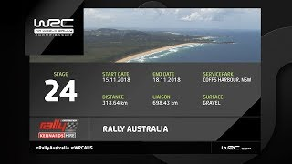 WRC - Rally Australia 2018: The 24 Stages