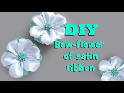 DIY bow-flower of satin ribbon / kanzashi