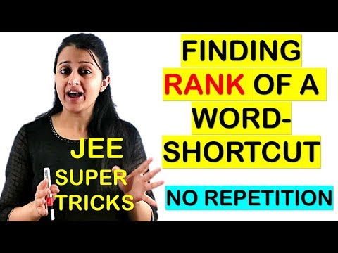 HOW TO FIND RANK OF A WORD IN THE DICTIONARY SHORT CUT // JEE/ EAMCET TRICKS