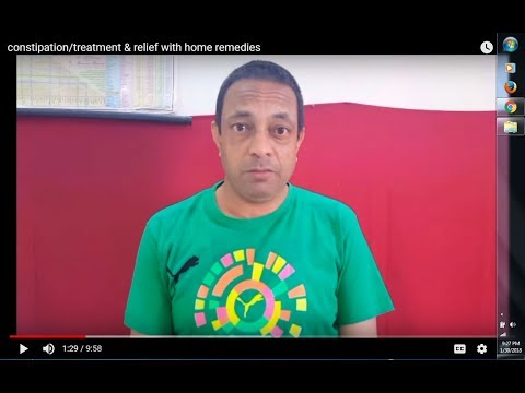 constipation/treatment & relief with home remedies