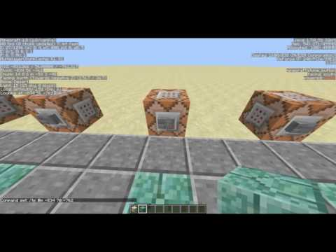 Minecraft 1.8+ Command Block: Basic Teleporter Tutorial