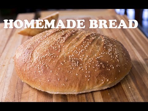 The BEST Homemade Bread - Crusty Outside & Moist Inside