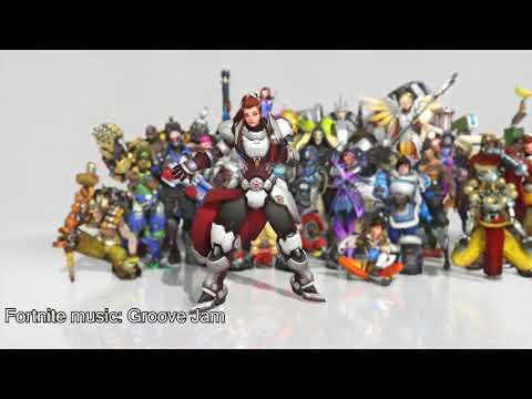 I put Fortnite music onto Overwatch dances. Turn out great!