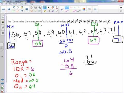 6th Grade 11-3: Measures of Variation