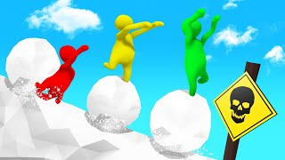 BALANCE On The SNOWBALL Or DIE! (Human Fall Flat)