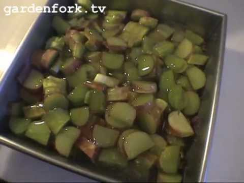 Rhubarb Crisp Recipe, How to grow and cook rhubarb