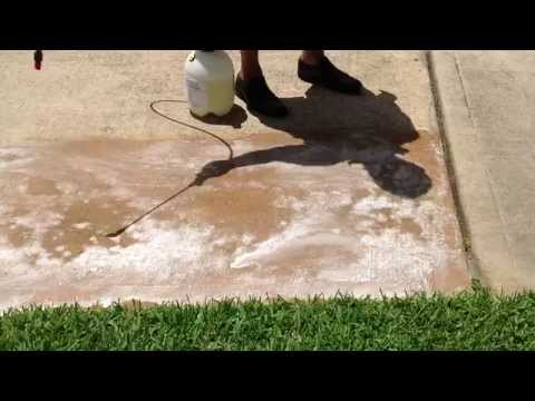 Cleaning concrete with Eco Friendly Products