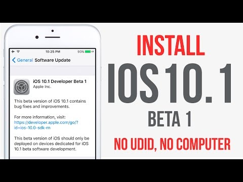 How To Install iOS 10.1 Beta 1 FREE Without UDID NO Computer iPhone iPad & iPod Touch