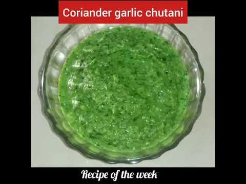 Coriander and fresh garlic chutani/ કોથમીર -લીલા લસણની ચટણી/chutani for chat