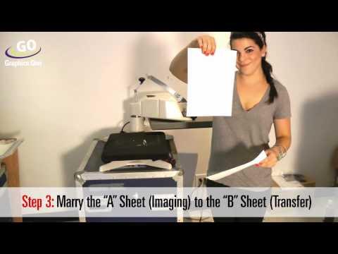 OKI pro920WT Printer with White Toner -- T-Shirt Transfer Using GO FlipIt 2.0 Paper