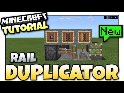 Minecraft - Rail DUPLICATOR [ GLITCH ] TUTORIAL - Bedrock [ Xbox / MCPE / Windows 10 ]