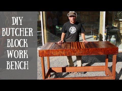 🐖🔨Building a DIY Butcher Block Work Bench🔨🐖