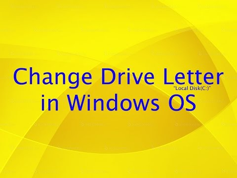 How to Change Computer Hard Drive Letter in Windows Operating System Computer Tips and Tricks