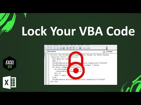 How to Protect VBA Code in Excel