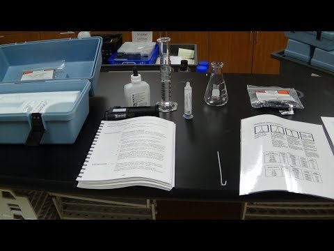 Total Hardness HACH Kit with Titrator testing