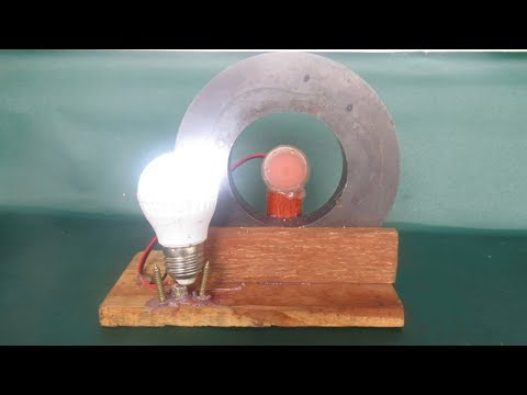 Free energy light bulbs using magnets motor generator - Free energy projects easy at home
