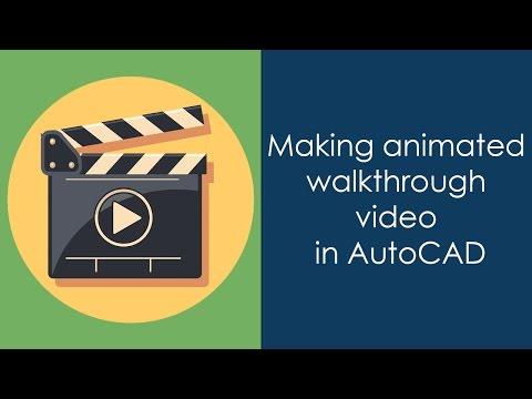 Creating animaed AutoCAD 3D walkthorugh video