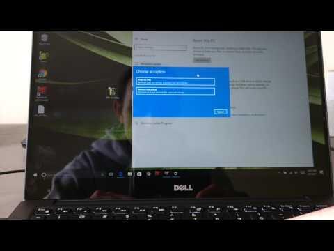 Dell XPS 13 Laptop Factory Windows Restore Instructions