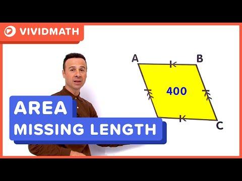 Area Of A Rhombus - VividMaths.com