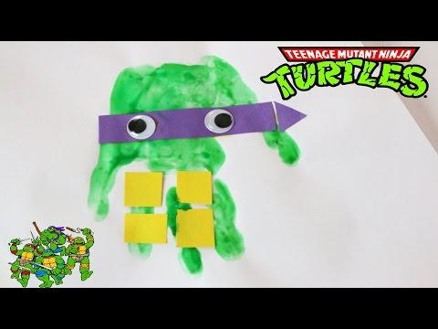 PinsDay! How to make your own fingerpaints | Teenage Mutant Ninja Turtle diy