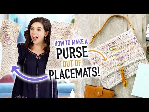 How to Make a Purse out of a Placemat! - HGTV Handmade