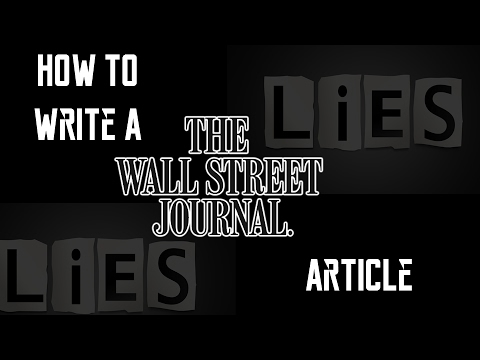 How to Write a Wall Street Journal Article