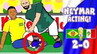 🎭NEYMAR ACTING!🎭 🇧🇷Brazil vs Mexico 2-0🇲🇽 World Cup Russia 2018!