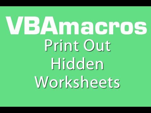 Print Out Hidden Worksheets - VBA Macros - Tutorial - MS Excel 2007, 2010, 2013