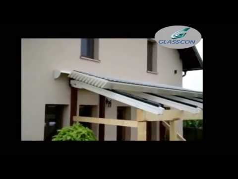 GLASSCON GmbH - RECTRACTABLE ALUMINUM LOUVERED ROOF SYSTEM FOR PERGOLAS PATIOS SKYLIGHTS