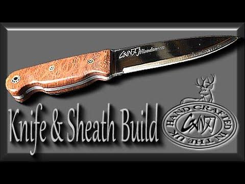 BUSHCRAFT KNIFE & LEATHER SHEATH BUILD START TO FINISH