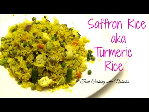 How to make Saffron Rice with Vegetables aka Turmeric Rice - Episode 309