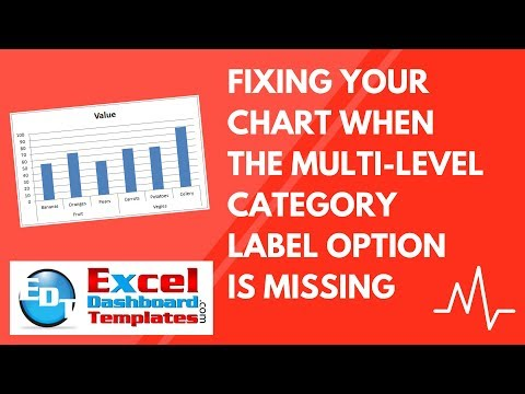 Fixing Your Excel Chart When the Multi-Level Category Label Option is Missing