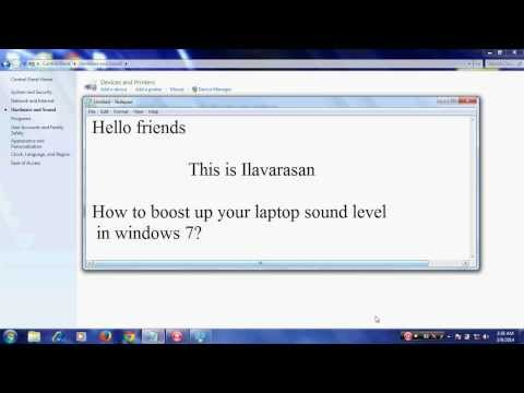 How to boost up your Laptop/PC sound level in windows 7