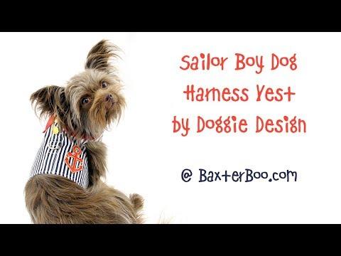Sailor Boy Dog Harness Vest by Doggie Design