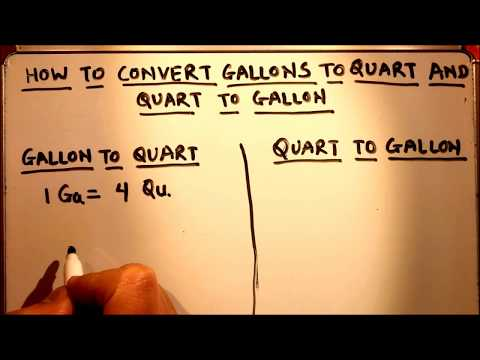 CONVERT GALLON TO QUART AND QUART TO GALLON