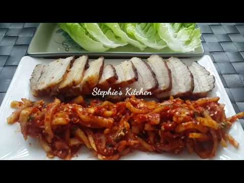 BOSSAM RECIPE- korean boiled pork wrap recipe