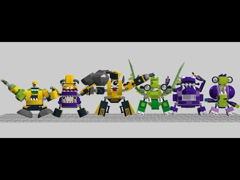 All Of The Lego Mixels Series 6 Combination Instructions From Lego Digital Designer
