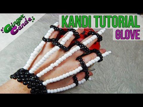 Skeleton Gloves - [Kandi Tutorial] | @GingerCandE