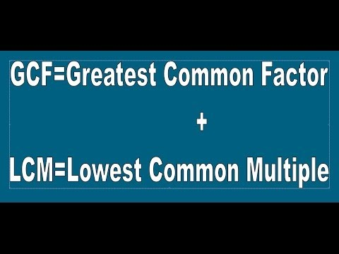 Understanding GCF or HCF  AND LCM  For Class 4   Grade 4- Maths