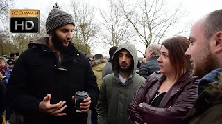 P1 - Fairies? Muhammad Hijab vs Atheist l Speakers Corner l Hyde Park