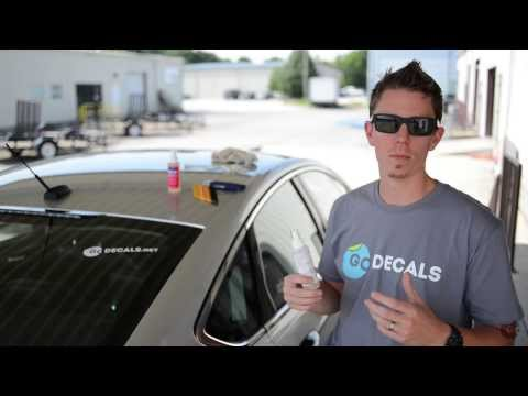 How to Remove a Die Cut Decal or Sticker From a Car Window