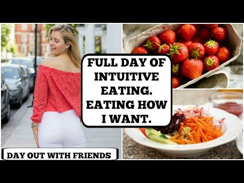 WHAT I EAT IN A DAY || INTUITIVE EATING || Day Out At The Beach