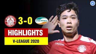 Highlights CLB TP HCM 3-0 Viettel | Công Phượng hóa Messi ghi tuyệt phẩm nổ tung sân Thống Nhất
