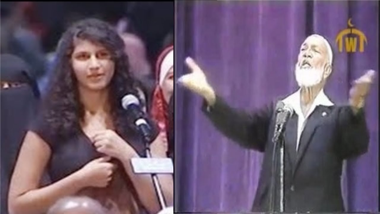 ملحده تسأل سؤال للشيخ احمد ديدات ولكن بعد الإجابة اعتنقت الإسلام فورآ ! يستحق المشاهده
