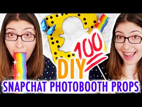 DIY SNAPCHAT PHOTOBOOTH PROPS - HGTV Handmade